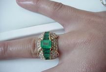 Emerald-cut emerald ring / The name comes from the old French word 'esmeralde', which was derived from the Greek word 'smaragdos' meaning 'green stone'.