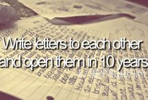 •Bucket List• / Great bucket list to do with your friends, or family, or really, any loved one! :)