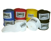 Boxing Handwraps / Handwraps are must for a boxer to protect himself from injuries that could be sustained due to punching. Gauze sponges stands out to be very useful for medical purposes. Hand wrap is a strip of cloth wrapped around the boxer's wrist, palm and base of the thumb before wearing his/her boxing gloves.