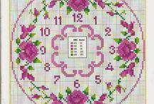 cross stitch watch, punto croce orologi