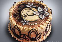 dort krémový a čokoládový