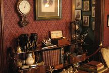 Man room 1 / Sherlock Holmes vintage Victorian eclectic style. Looking for pictures, wall paper/design or paint colors. Furniture etc...want it kinda functional though comfortable and definitely usable...