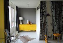 PORTFOLIO / Hieronder foto's van mijn werk als interieurstyliste. Ik maak graag gebruik van kleur en ook behang kan mooie effecten geven!
