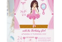 Pink Ballerina theme Birthday Party Suite / Ballet themed party supplies