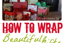 gift wrapping/bow tying