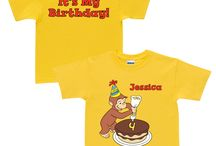 Personalized Tees and More / Put your name on any of these customizable Curious George tees, sweatshirts, and totes.