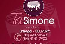 Tortas Finas Tia Simone - Natal RN / Produtos da mais alta qualidade e com um sabor inigualável. Acesse nosso novo Site: www.tiasimonetortasfinas.com.br ATENDIMENTO: (84) 4141-7900 (84) 9982-8590 Loja: RUA ENICO MONTEIRO, N. 2004 - Capim macio - Natal RN - 59.082-170  ENTREGA-DELIVERY: Prazo Máximo de Entrega: 24 horas após o Pedido.