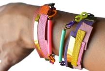 Textile jewellery.