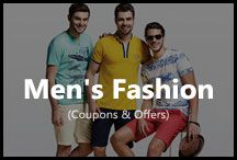 Men's Fashion / Check out the Best Deals in Men's clothing. Shop from Flipkart, Amazon, Snapdeal, Shopclues. Use the latest online fashion coupons and shop online.