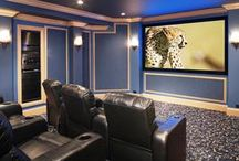 DIY Basement and Home Media / DIY basement ideas and media center how to pins.