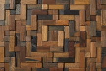 Reclaimed Wood Tiles / 3 Dimensional Reclaimed Wood Mosaic Tile. Made from Vietnamese fishing boats, these durable wood grain tiles can be used indoors or outdoors for commercial or residential usage.