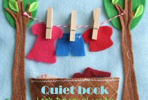 quiet books / handarbeit