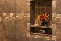 Ceramic Tile Examples Denver Colorado / Custom Ceramic Tile installations in JM's kitchen & Bath Remodels.