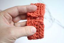 Laços e tiaras de crochê