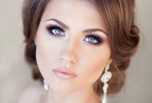 макияж, серьги,прическа