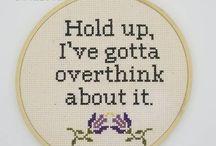 Cross stitch ~ Words.