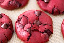 Yum! / Red velvet cookies.