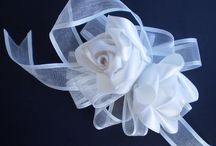 WEDDING ACCESSORIES / handmade wedding accessories by ribbon embroidery