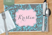 Custom Pattern Placemats / Custom Pattern Placemats