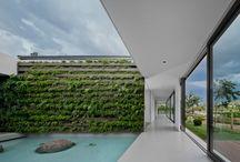 Garden privacy walls