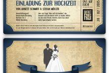 Hochzeitseinladungen / Kreative und individuelle Hochzeitseinladungen mit eigenem Text!