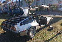 DeLorean / Une DeLorean est venue changer sa batterie au magasin de Coignières, à quelques jours de la date anniversaire du film !