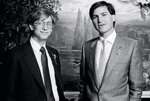Steve and Bill - Happy Days / The titans of personal computing.