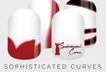 Sophisticated Curves Nail Wraps