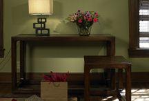 Sage and brown living room