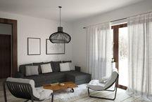 Wizualizacje wnętrza w Lamii 2 / Wizualizacje salonu, kuchni oraz sypialni na poddaszu.