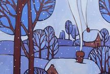 зимние рисунки