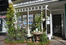Hampton Court Village in Bloom / 'Hampton Court Village in Bloom 2017' is a window display competition devised by RHS in conjunction with the Hampton Court Flower Show.