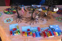 Arte Sano escolar / artesania realizada por los alumnos y alumnas de la escuela Eleuterio  Ramírez de Valparaíso, Chile.