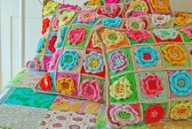 Crochet Inspiration  / Bright funky crochet pieces that I simply love.