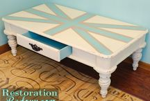 Painted Furniture / Upcycled and painted furniture and home decor