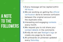 Vestige goes Digital / We are excited to announce that Vestige is going digital and you can follow us on all the social channels given below: Facebook- Vestige Marketing Pvt Ltd. Instagram- @Vestige_Official Twitter- @Vestigemkt Pinterest- VestigeOfficial Youtube- Vestige Media LinkedIn- Vestige Marketing Pvt Ltd. Wish you wellth. ‪#‎VestigeGoesDigital‬