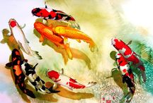 SIA YEK CHUNG / Malaysian artist - reinterprets the ASIAN artistic tradition with watercolour and acrylic paintings of oriental wildlife and nature
