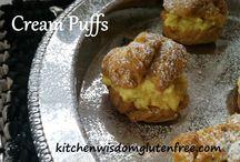 CREAM PUFFS / Kitchen Wisdom Gluten Free Cream Puff Recipe  http://kitchenwisdomglutenfree.com/2015/11/15/cream-puffs-forget-what-you-know-about-wheatc-2015/