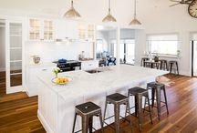 Albedor Hamptons (coastal) Style Kitchen Design / Albedor's door designs suited to the Hamptons style are... Belinda, Rachel, Monique in plain or matt finishes. Sheree in plain, matt or satin finishes. Elise in plain or matt finishes. Faceline in plain, matt or satin finishes. Wrap around panels. For all Tips for achieving the Hamptons style in your home: http://www.albedor.com.au/index.php/design/styles/hamptons-coastal-style-kitchen-design