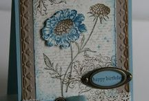 Card making - S.U. Field Flowers, Best Thoughts, Birthday Blooms