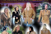 Lady's Western And Indian Coats / Lady's J4 West Coat And Jacket Collection.  The Western And Indian Style American Loves. J4 West-Class And Style! You'll wear them everywhere! You will also find Scully brand and Cripple Creek Band coats on the Tribal Impressions Collections.   The Famous Name For Western Wear With Indian Flair! Review off of: http://www.indianvillagemall.com/smladyscoats.html / by Tribal And Western Impressions