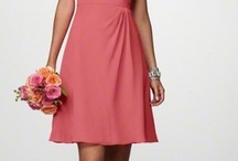 Coral and gray BB dresses /  brides maid suggestions