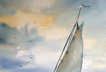 sea ocean watercolors