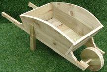 carrinho de mão madeira