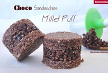 Choco Millet Puff Sandwiches / Vegan dessert that is sugar-free, gluten-free and soy-free. It is made with the Ice Cream Sandwiches Makers Bambini from Tescoma. http://www.tescoma.pt/tescoma-para-criancas/acessorios-de-mesa-para-criancas/bambini/668234-molde-p/-sanduiches-de-gelado-bambini-3-pcs