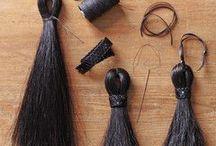 Horsehair tassels