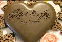 Custom personalized chocolate molds / Put your name and your significant other's name and the date of your big day on a piece of chocolate! Molds are made of food grade silicone rubber. With your initials on it (or the ones of your partner), it's a nice personal gift. ANY OTHER CUSTOM SHAPE AND TEXT POSSIBLE.