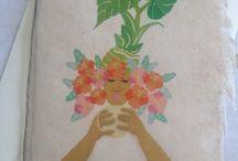 Art Mina Art Greeting Card / Art Mina original Art Greeting Card. Made from Handmade Bhutan paper.