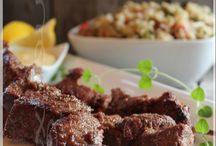 Brochettes à la Marocaine et crème d'orange au cari