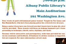 Guitar 101 - Mondays in March / Four weeks of good ol' fashioned guitar lessons at the Main Library, every Monday in March. Come at 6pm for Blues Mondays with Matt Durfee, and stay at 7pm for lessons with Ben Himmelfarb and Tor Loney, who share 30+ years of experience between them. Bring your guitar if you have one, all ages and experience levels welcome! Questions? Call 427-4349. / by Albany Public Library